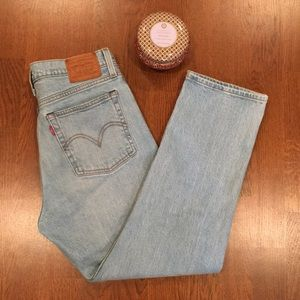 Levi's Wedgie Straight Cropped Leg Jeans, 27